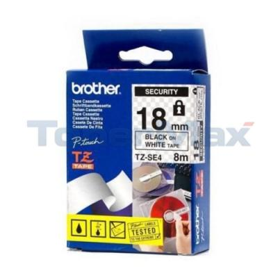 BROTHER TZ SECURITY TAPE BLACK/WHITE 3/4IN WIDTH